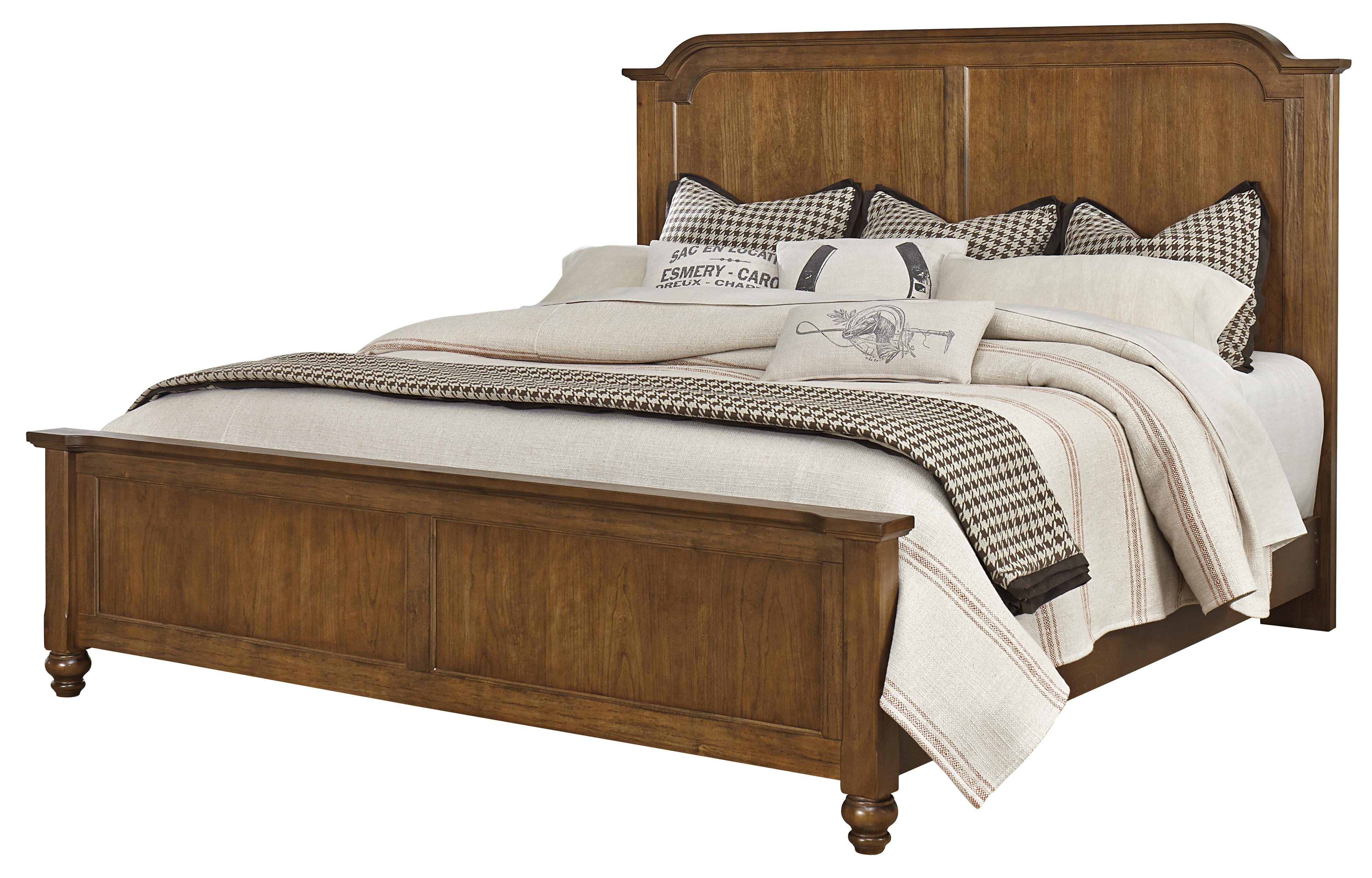 Vaughan Bassett Arrendelle King Mansion Bed - Item Number: 440-668+866+922+MS1