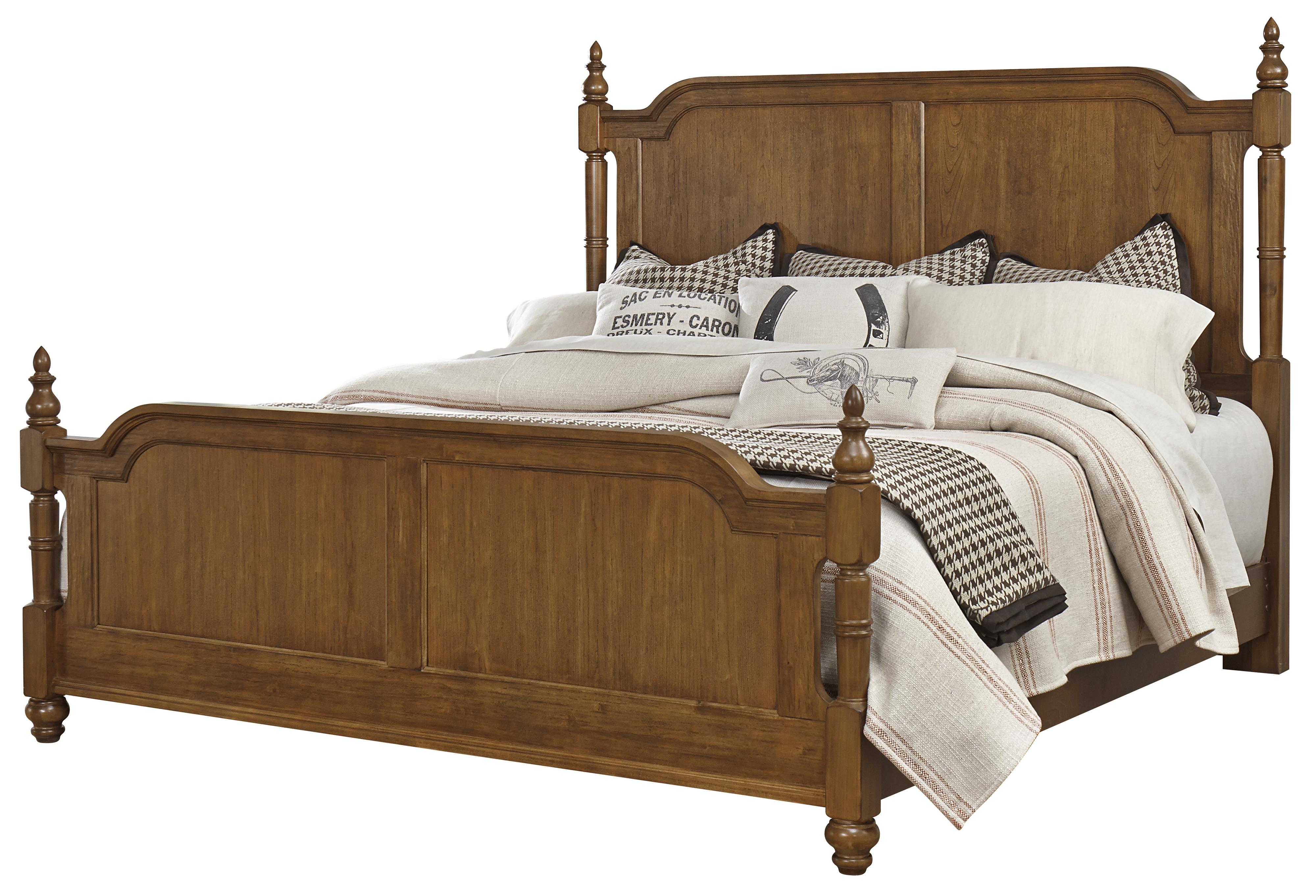 Vaughan Bassett Arrendelle King Poster Bed - Item Number: 440-669+966+922+MS1
