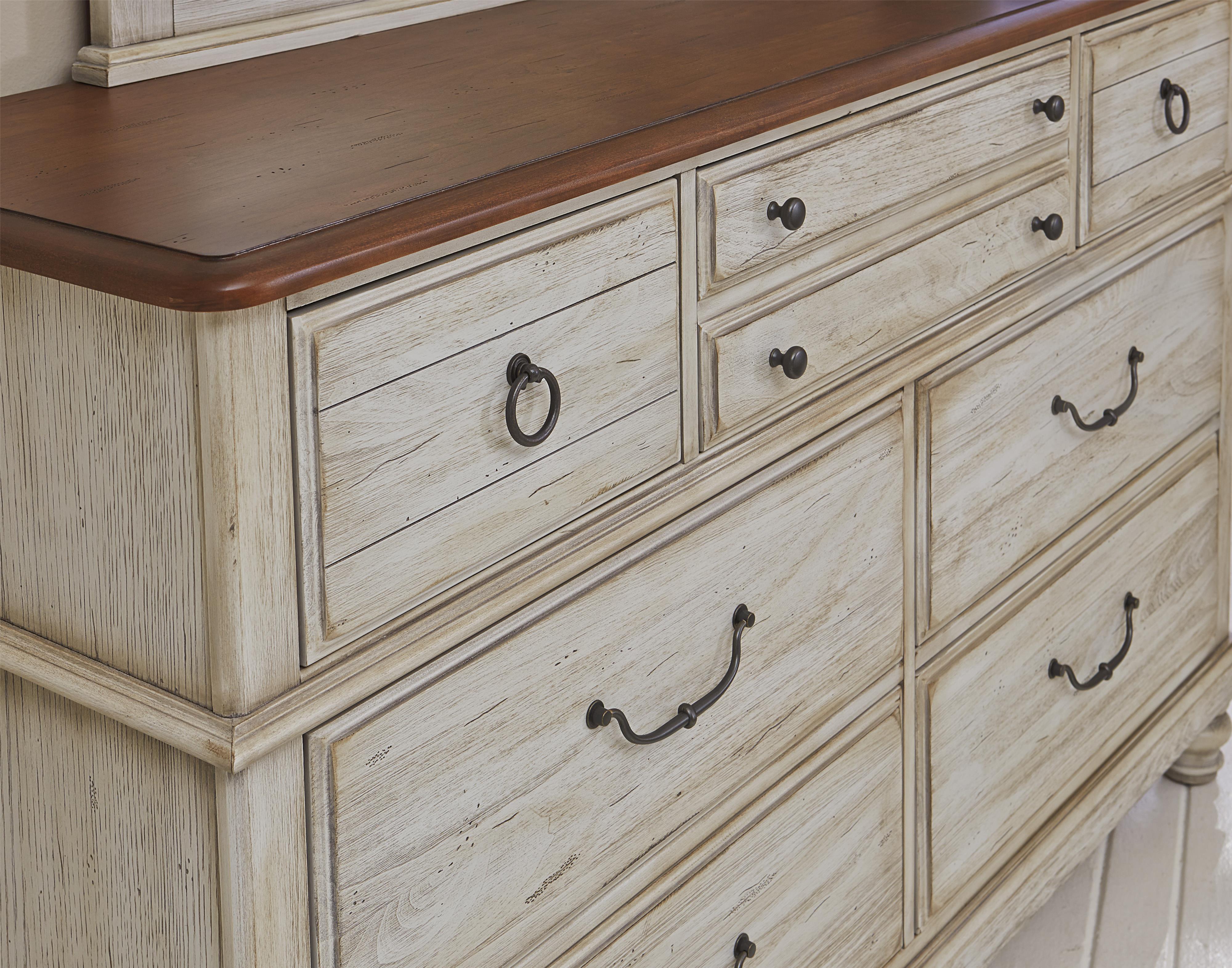 Vaughan bassett arrendelle 442 002 transitional dresser - Bassett bedroom furniture 1970 s ...