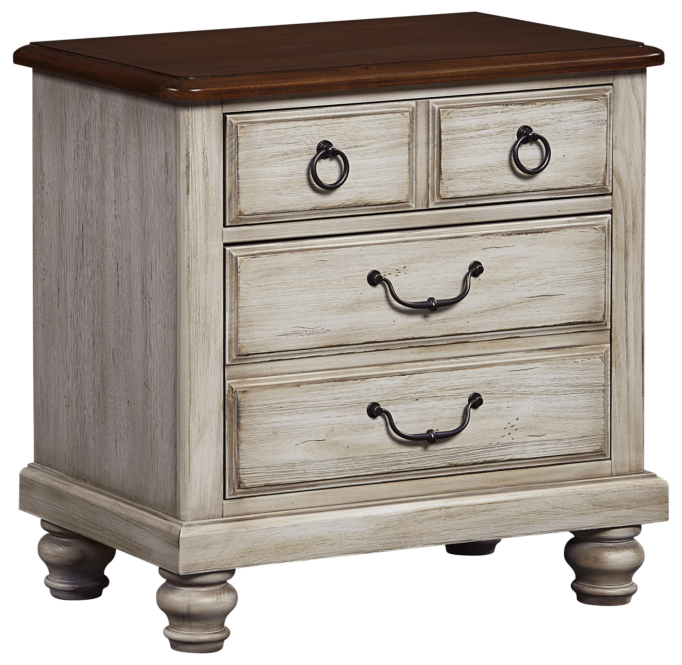 Vaughan Bassett Arrendelle Night Stand - 2 Drawers - Item Number: 442-226
