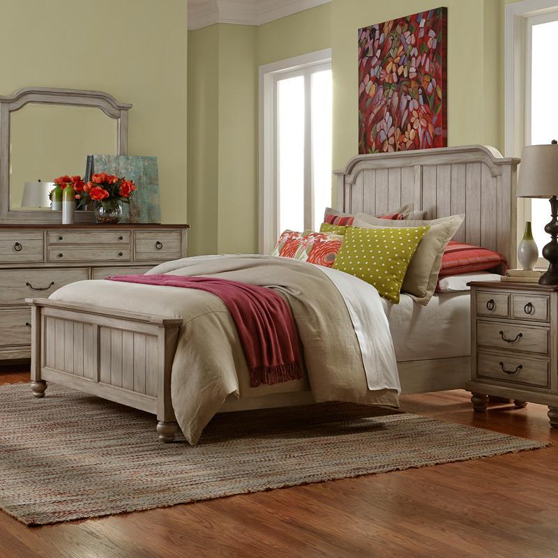 Vaughan Bassett Arrendelle Queen Mansion Bed - Item Number: 442-558+855+922