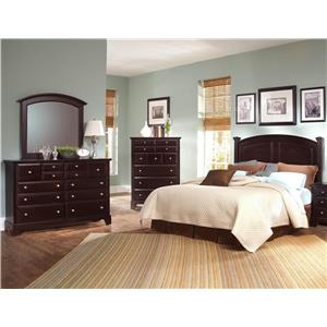 Vaughan Bassett Hamilton/Franklin 4 Piece Full/Queen Bedroom Group