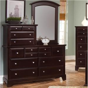 Vaughan Bassett Hamilton/Franklin Vanity Dresser with Vanity Mirror