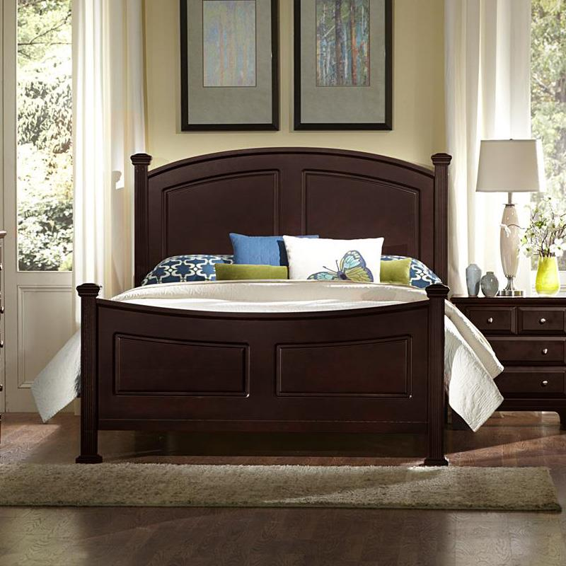 Vaughan Bassett Hamilton Full Panel Bed - Item Number: BB4-556+655+911