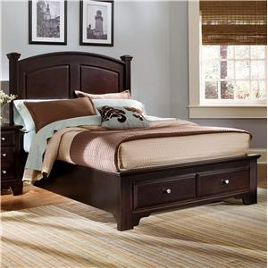 Vaughan Bassett Hamilton Queen Panel Storage Bed