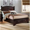 Vaughan Bassett Hamilton/Franklin Queen Panel Storage Bed - Item Number: BB4-558+050+501+555T