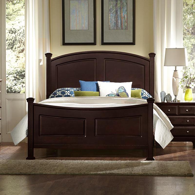 Vaughan Bassett Hamilton Queen Panel Bed - Item Number: BB4-558+855+922