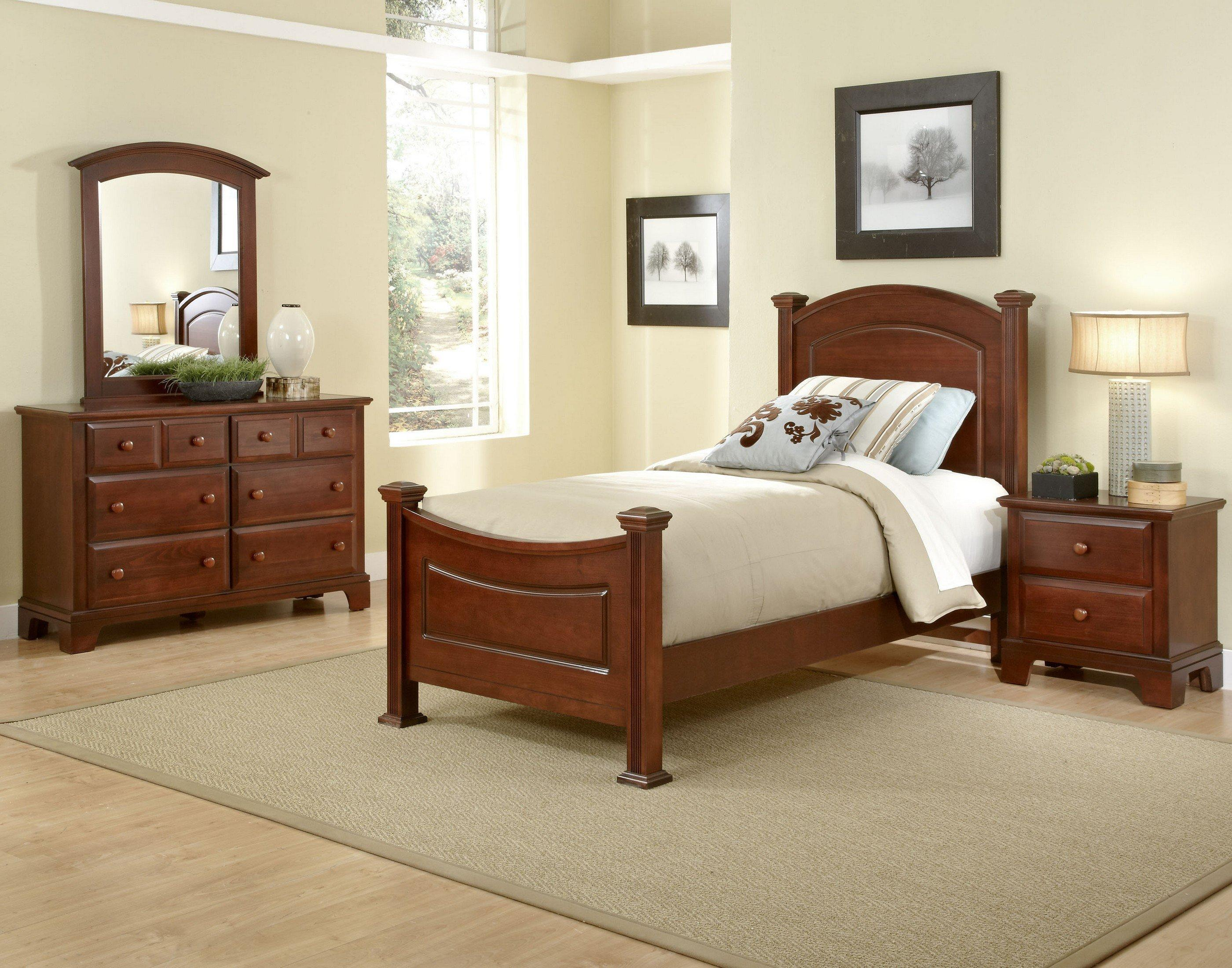 Vaughan Bassett Hamilton Franklin Twin Bedroom Group - Item Number: BB5 T Bedroom Group 1