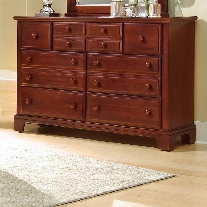 Hamilton/Franklin 7 Drawer Dresser Chest by Vaughan Bassett at EFO Furniture Outlet