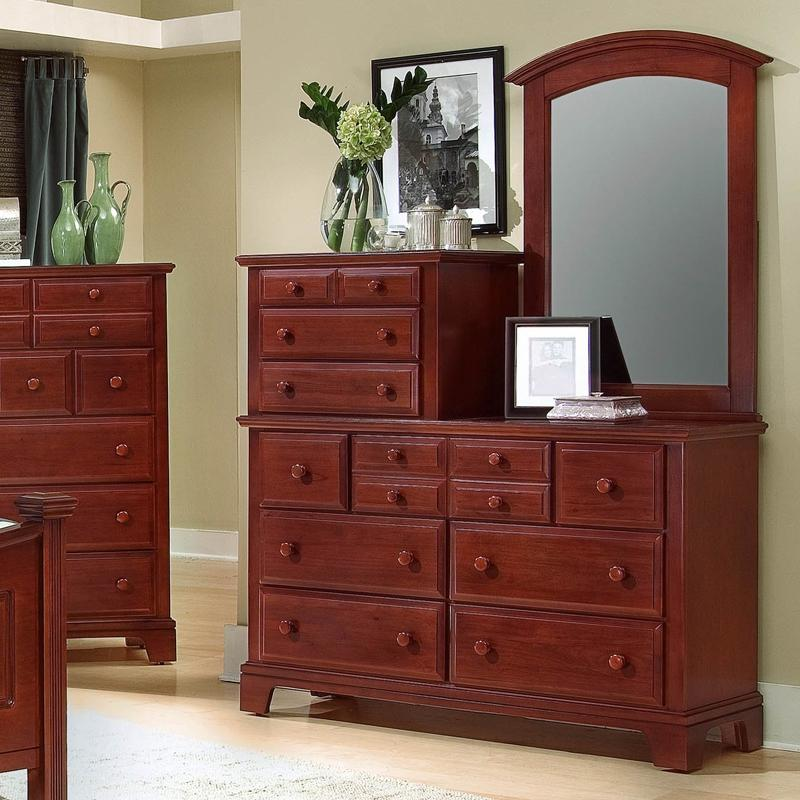 Vaughan Bassett Hamilton/Franklin Vanity Dresser with Vanity Mirror - Item Number: BB5-003+443