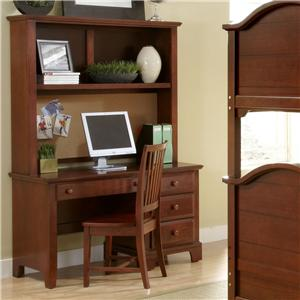 Vaughan Bassett Hamilton/Franklin Computer Desk & Hutch