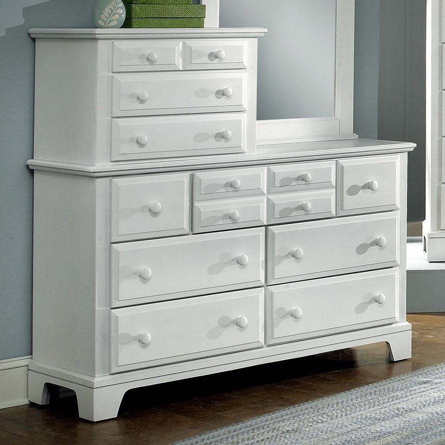 Vaughan Bassett Hamilton/Franklin Vanity Dresser - Item Number: BB6-003