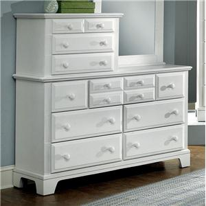 Vaughan Bassett Hamilton/Franklin Vanity Dresser