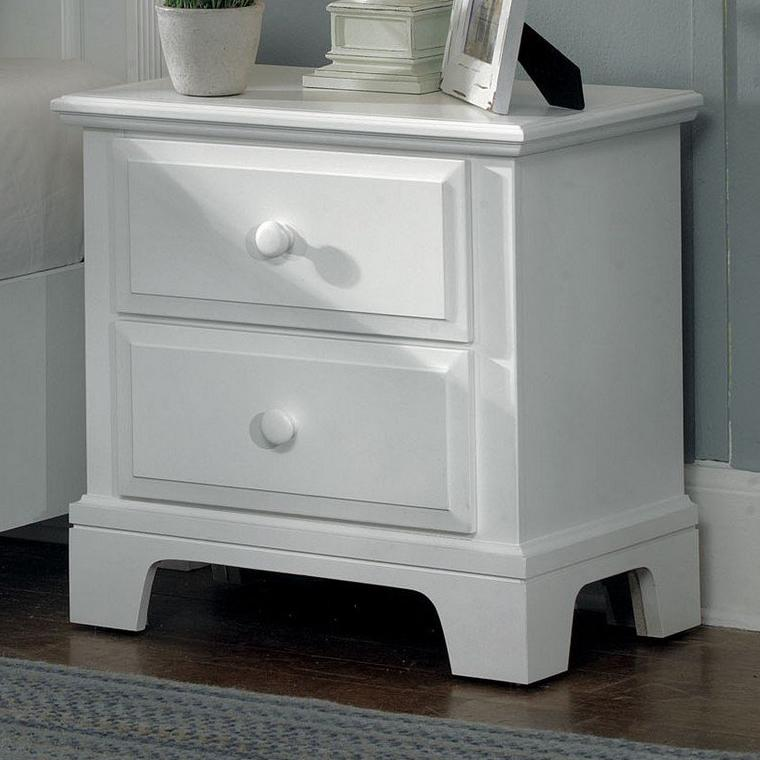 Vaughan Bassett Hamilton/Franklin Night Stand - 2 drawers - Item Number: BB6-224