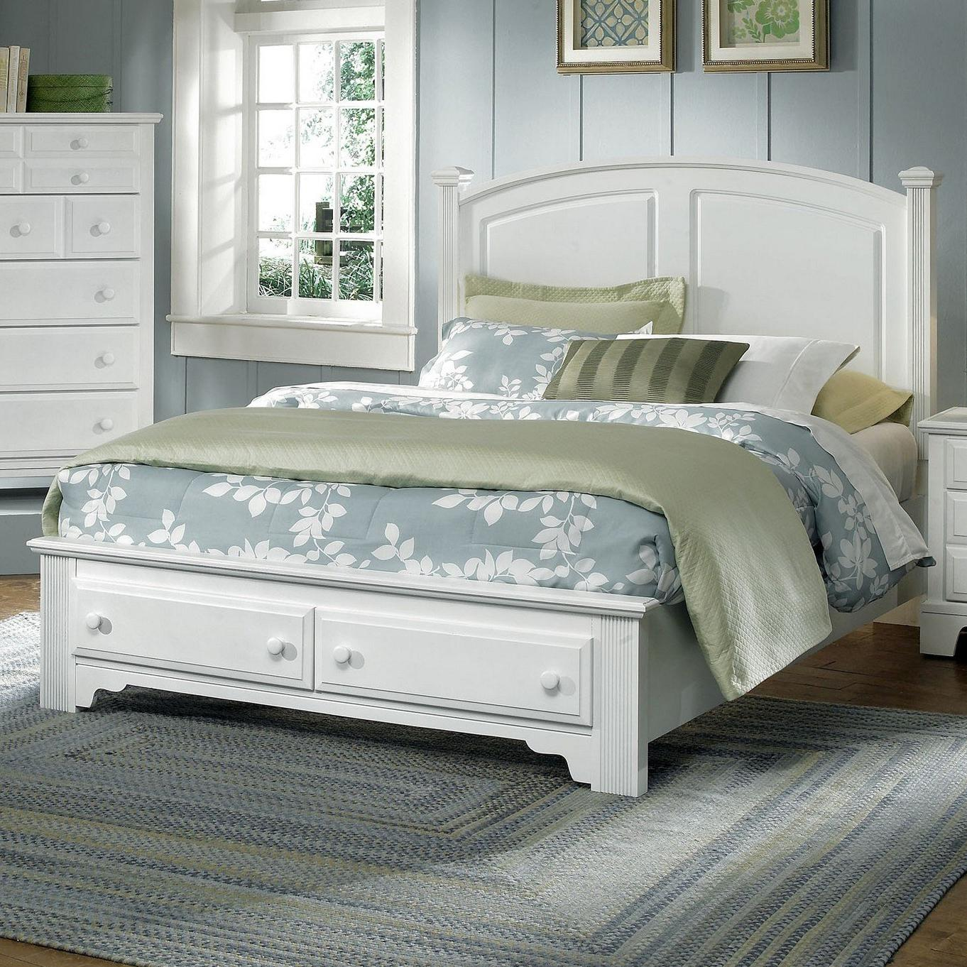 Vaughan Bassett Hamilton/Franklin Full Panel Storage Bed - Item Number: BB6-556+046+302+444T
