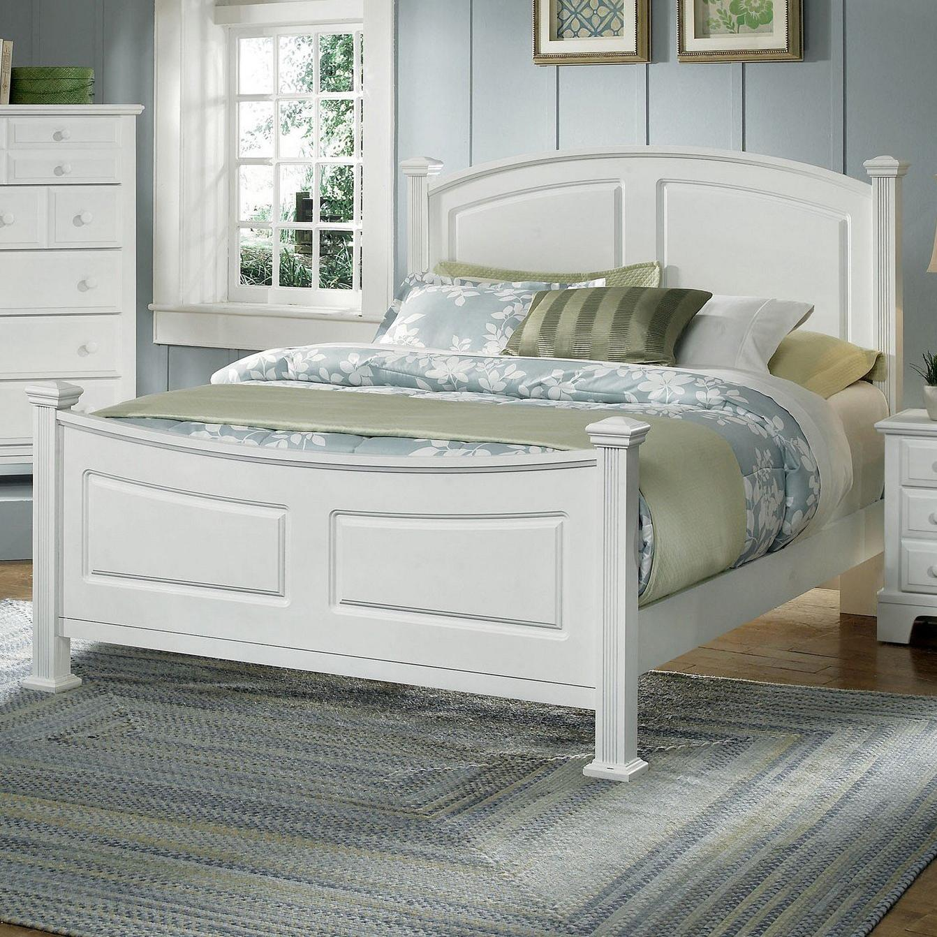Vaughan Bassett Hamilton Franklin Queen Panel Bed - Item Number: BB6-558+855+922