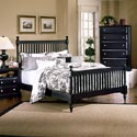Vaughan Bassett Cottage Queen Slat Poster Bed - Shown with BB16-115 Chest of Drawers and BB16-115 Commode / Nightstand