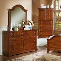 Vaughan Bassett Cottage Dresser and Mirror - Item Number: BB19-001+442