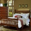 Vaughan Bassett Cottage Queen Slat Poster Bed - Item Number: BB19-557+755