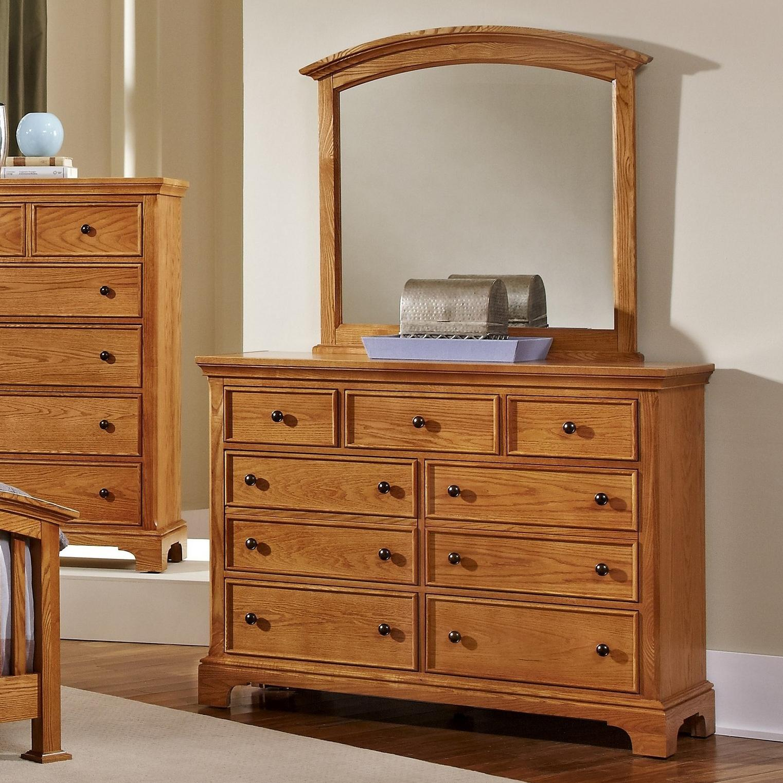 Vaughan Bassett Forsyth 7 Drawer Dresser and Arched Mirror - Item Number: BB75-002+447