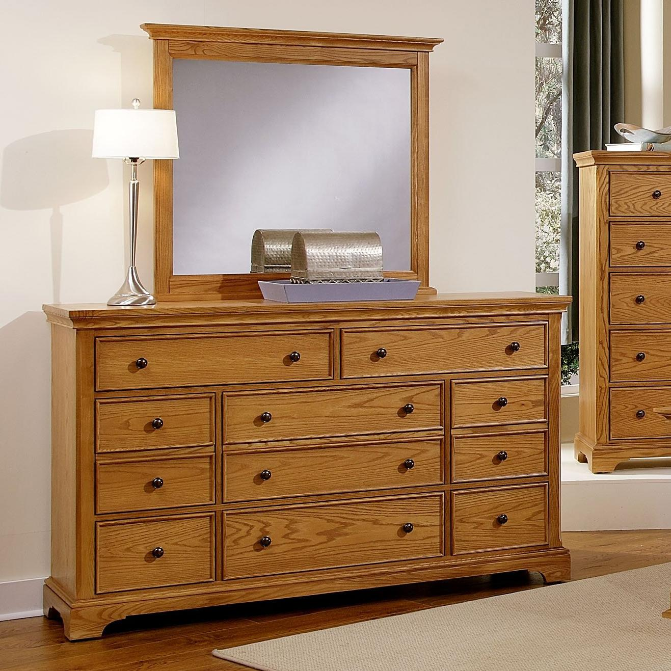 Vaughan Bassett Forsyth 8 Drawer Dresser and Mirror - Item Number: BB75-003+446