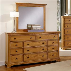 Vaughan Bassett Forsyth 8 Drawer Dresser and Mirror