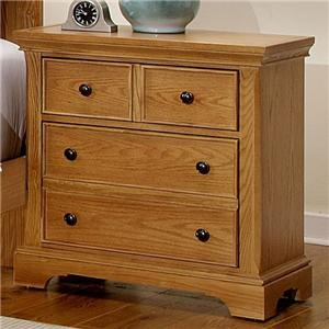 Vaughan Bassett Forsyth 3 Drawer Night Stand