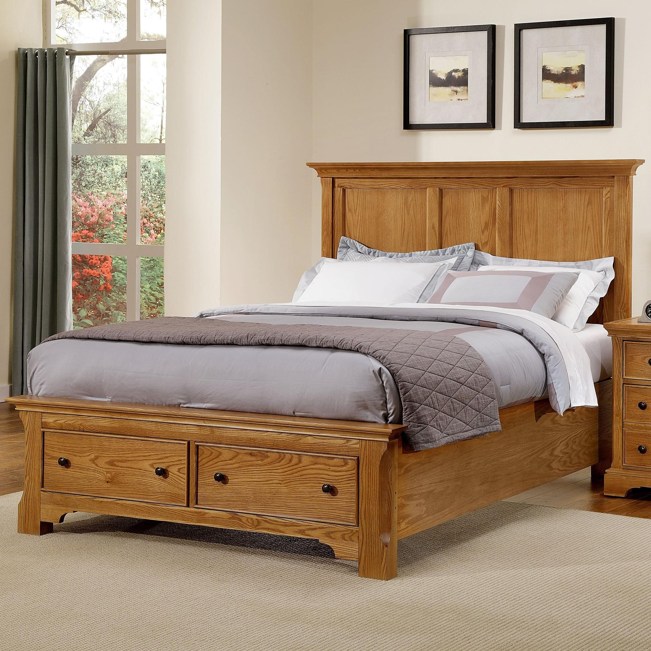 Vaughan Bassett Forsyth Queen Panel Storage Bed  - Item Number: BB75-558+050+501+555T