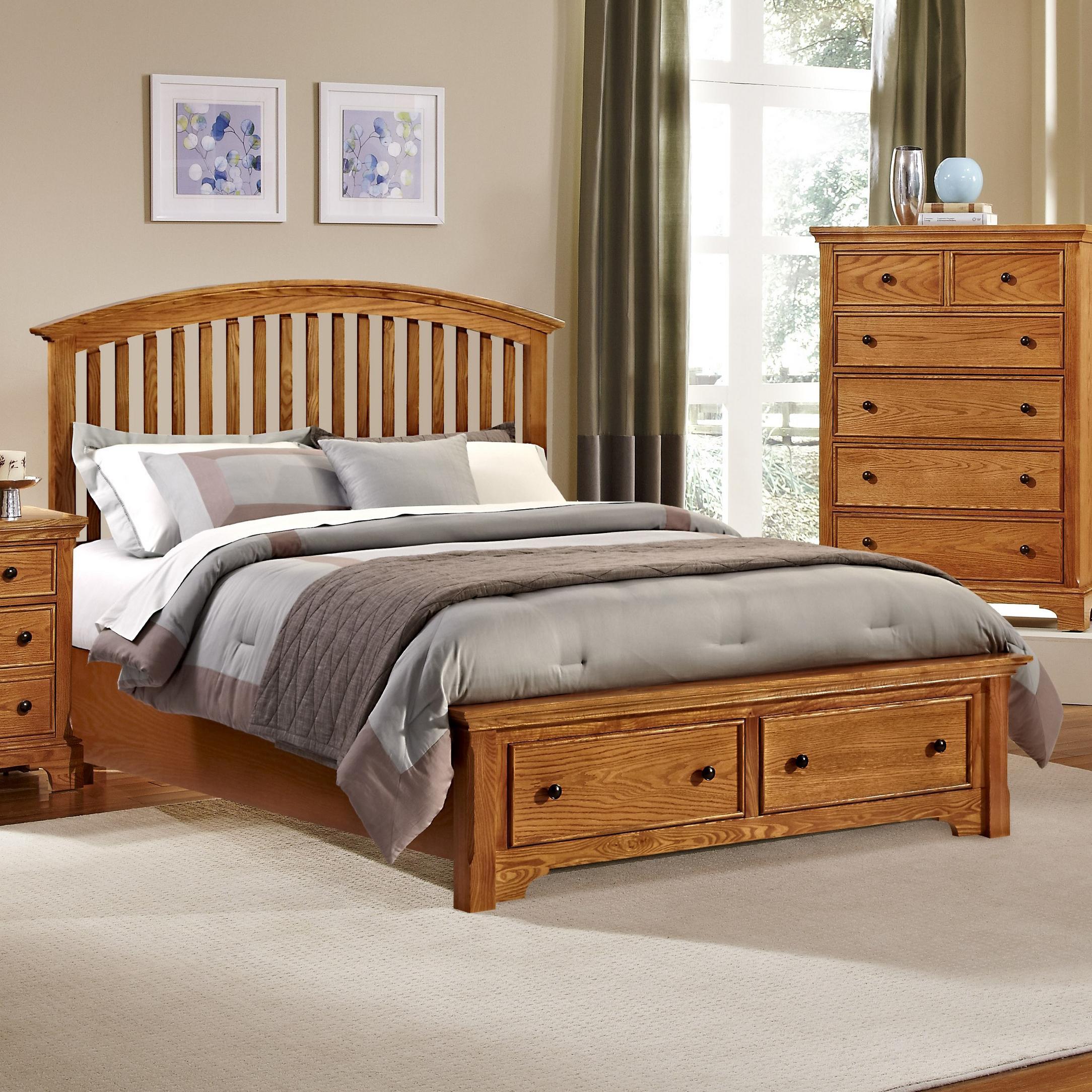 Vaughan Bassett Forsyth King Arched Storage Bed - Item Number: BB75-669+066B+502+666T