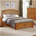 Vaughan Bassett Forsyth Queen Arched Storage Bed - Item Number: BB75-559+050B+502+555T
