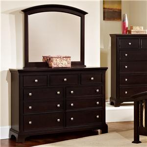 Vaughan Bassett Forsyth 7 Drawer Dresser and Arched Mirror