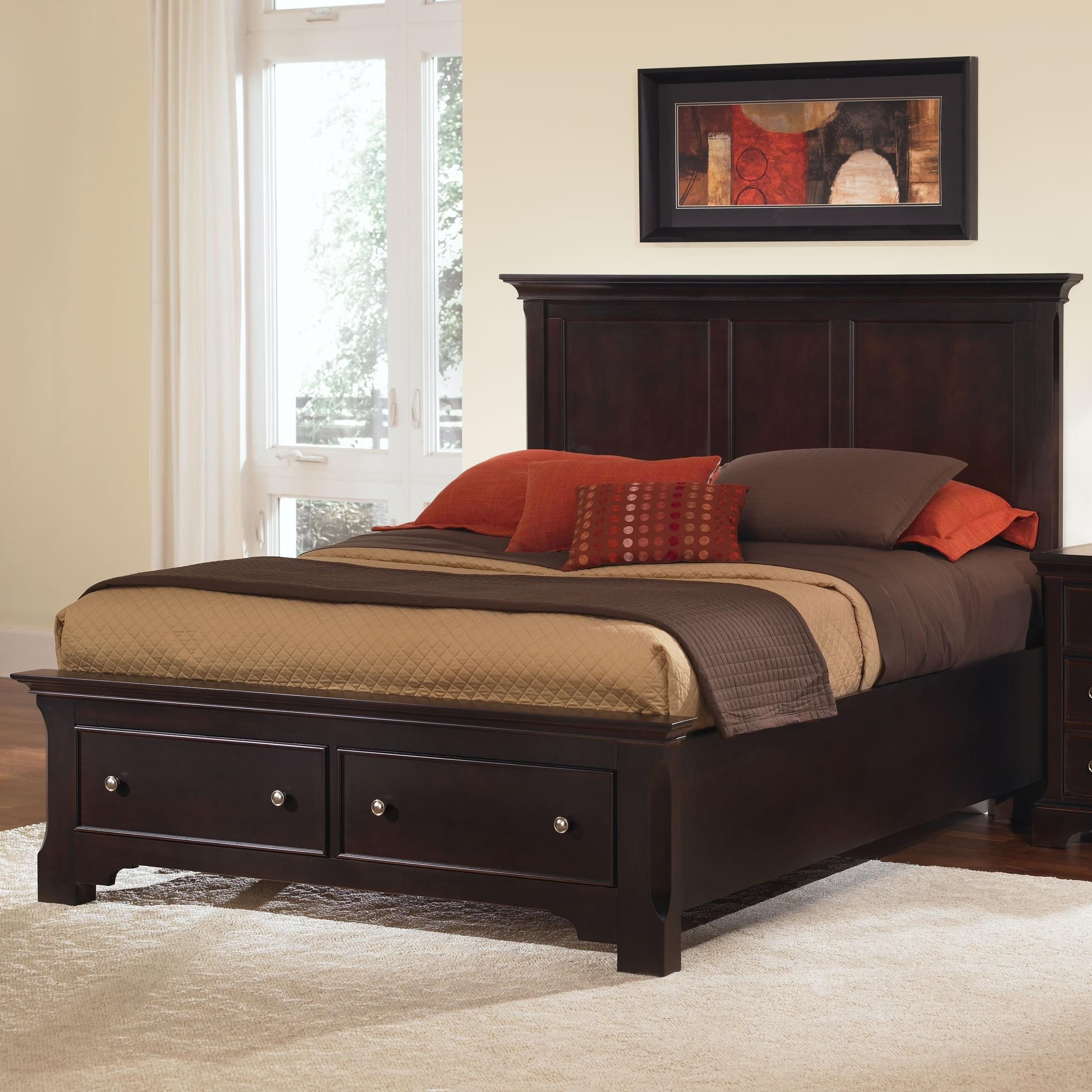 Vaughan Bassett Forsyth Full Panel Storage Bed - Item Number: BB76-558+-046-301-444T