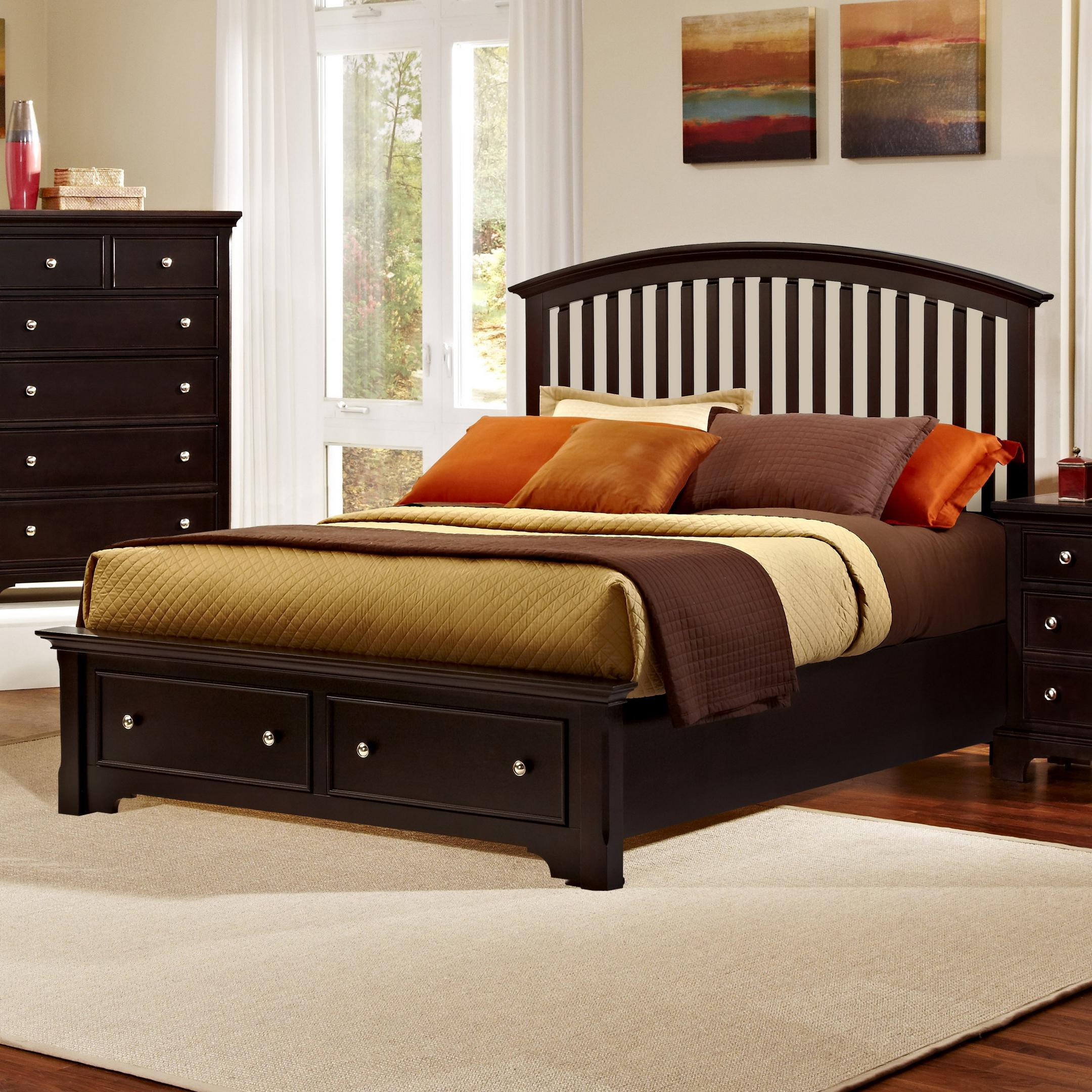 Vaughan Bassett Forsyth King Arched Storage Bed - Item Number: BB76-669+066B+502+666T