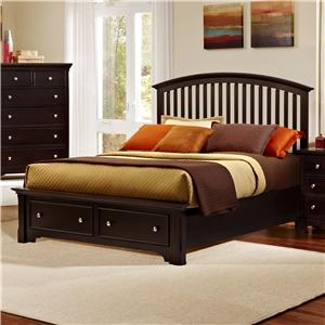 Vaughan Bassett Forsyth King Arched Storage Bed
