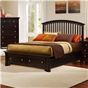 Vaughan Bassett Forsyth Queen Arched Storage Bed - Item Number: BB76-559+050B+502+555T