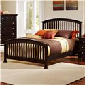 Vaughan Bassett Forsyth Queen Arched Bed - Item Number: BB76-559+955+922