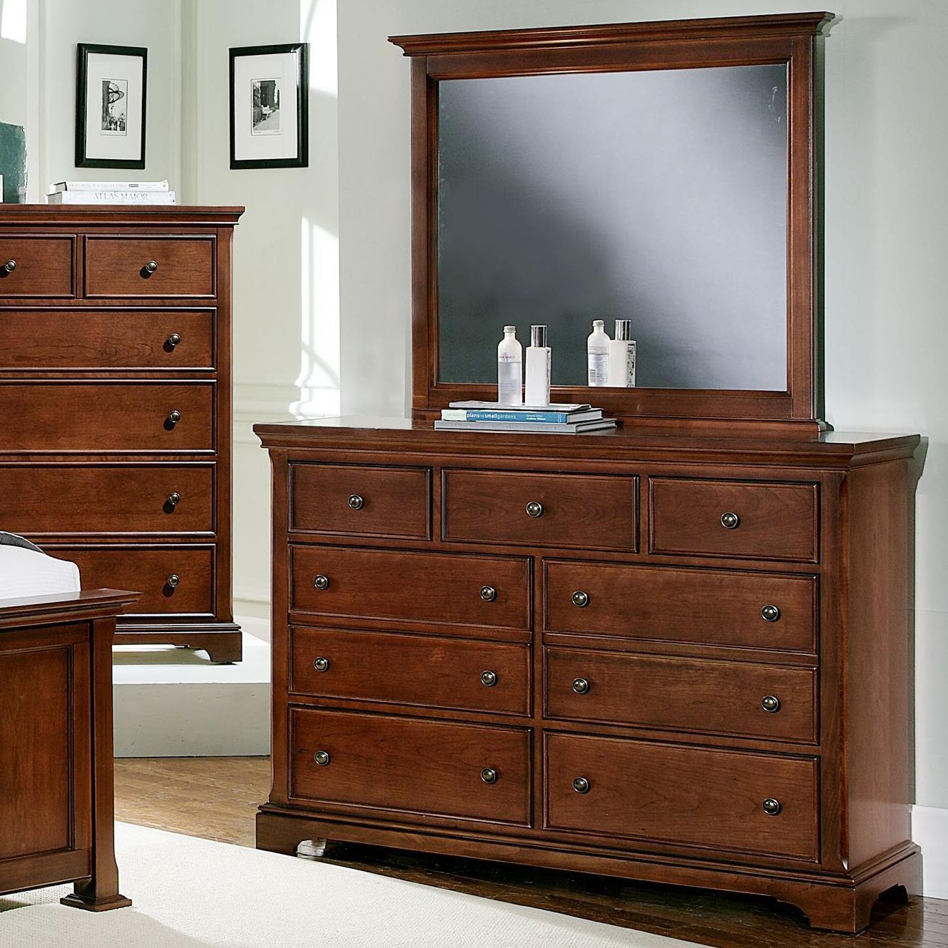 Vaughan Bassett Forsyth 7 Drawer Dresser and Mirror - Item Number: BB77-002+446