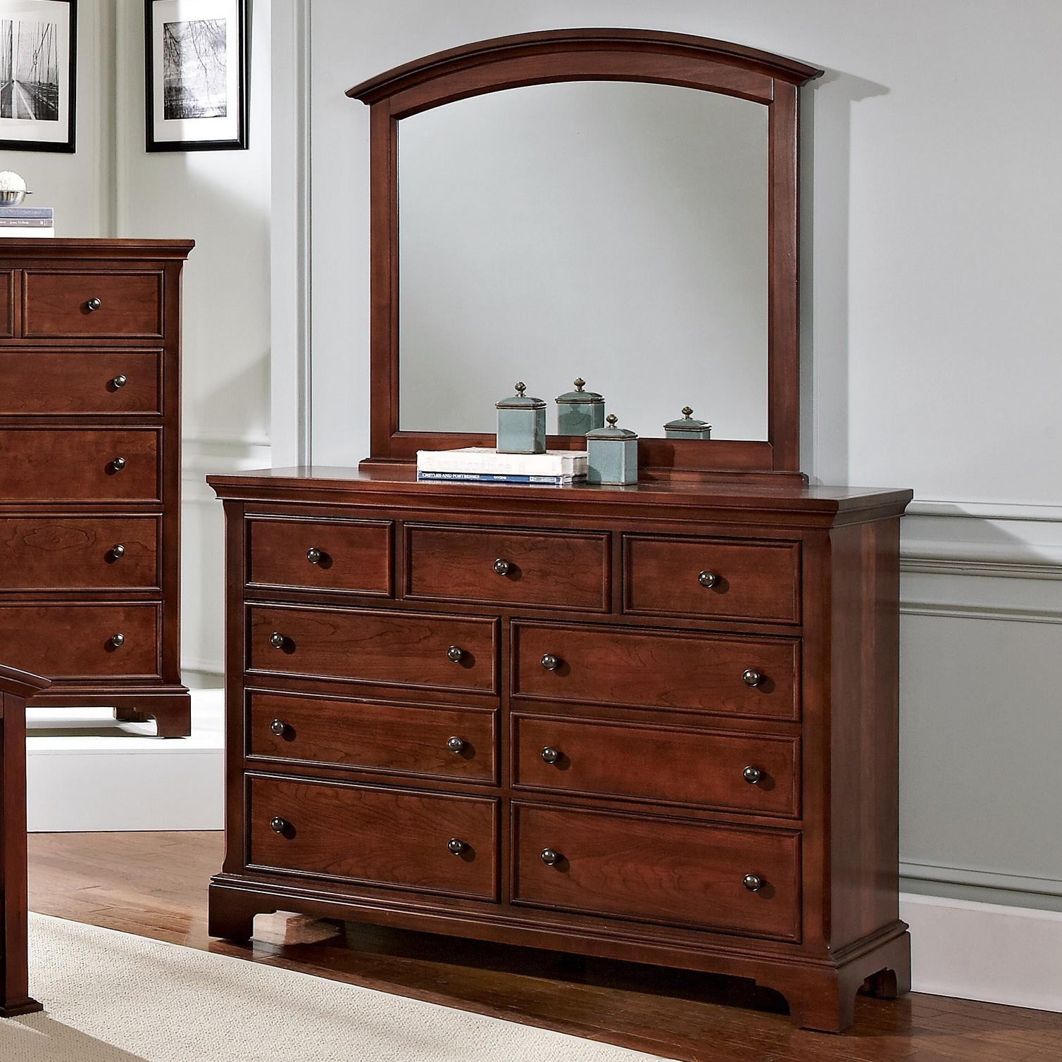 Vaughan Bassett Forsyth 7 Drawer Dresser and Arched Mirror - Item Number: BB77-002+447