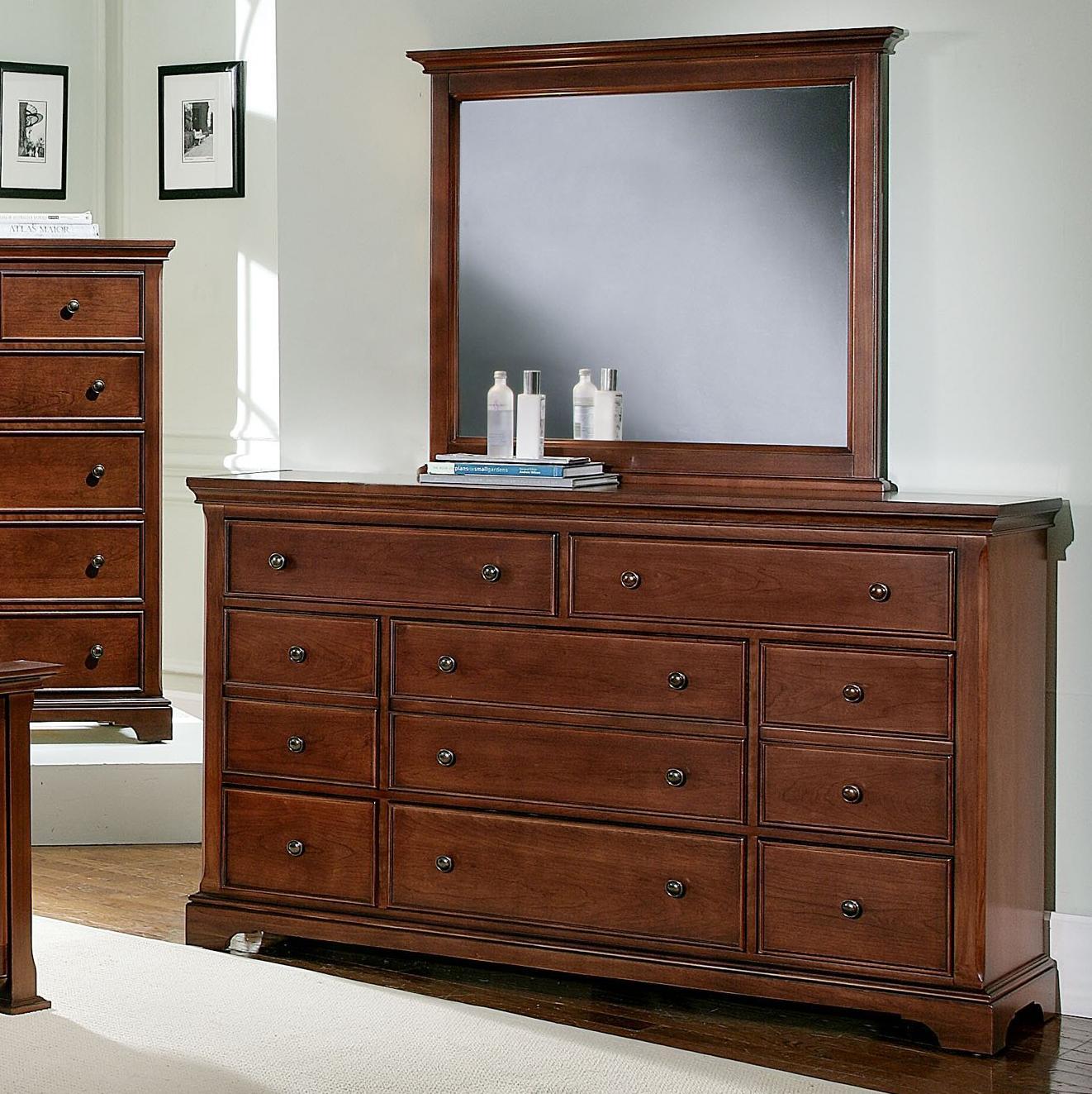 Vaughan Bassett Forsyth 8 Drawer Dresser and Mirror - Item Number: BB77-003+446