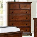Vaughan Bassett Forsyth 5 Drawer Chest - Item Number: BB77-115