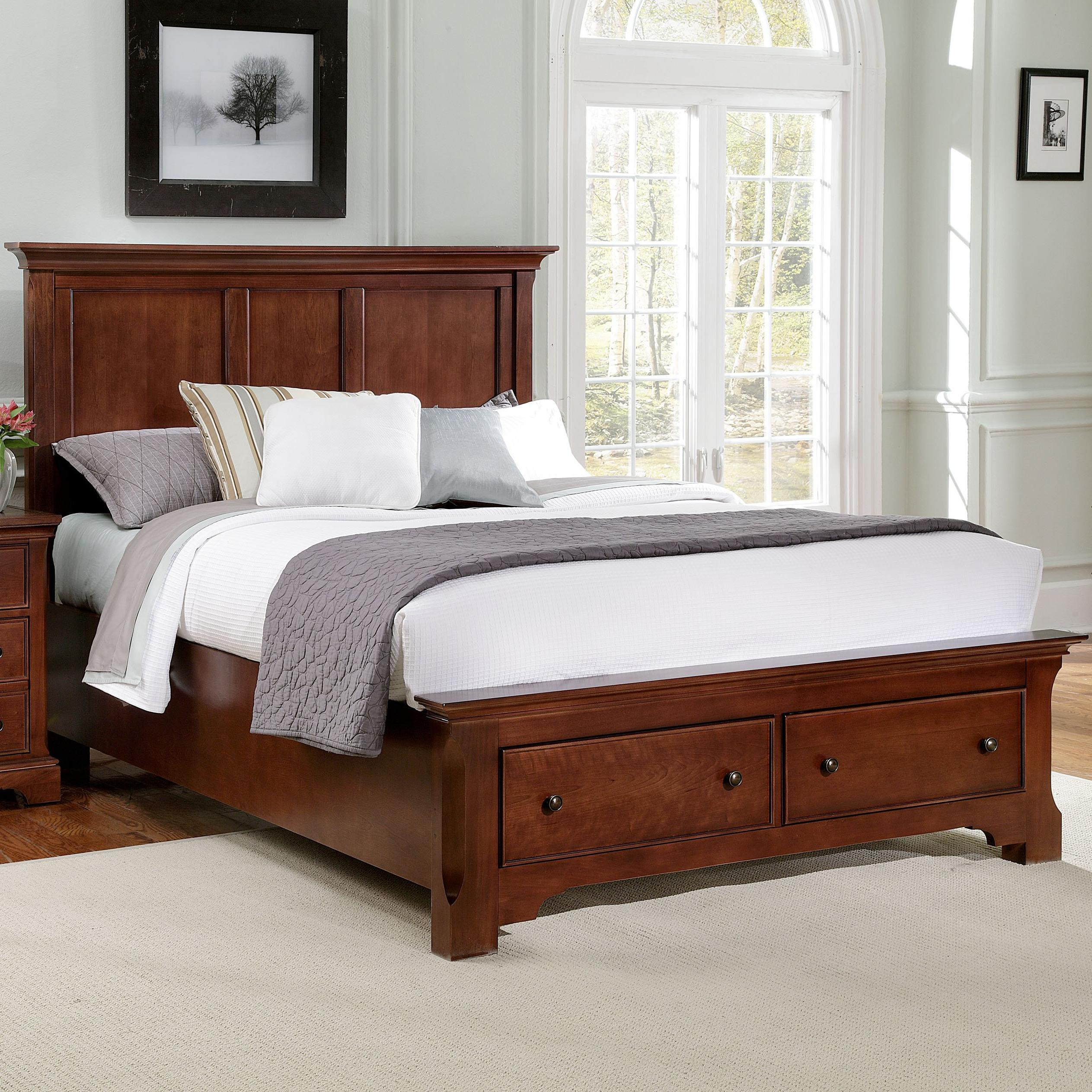 Vaughan Bassett Forsyth King Panel Storage Bed  - Item Number: BB77-668+066+501+666T
