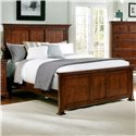 Vaughan Bassett Forsyth Queen Panel Bed - Item Number: BB77-558+855+922