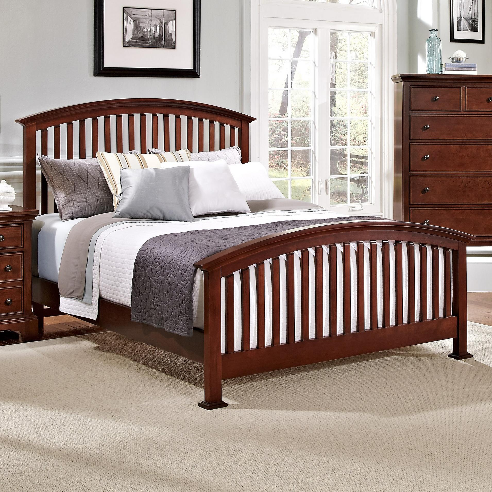Vaughan Bassett Forsyth King Arched Bed - Item Number: BB77-669+966+922+MS1