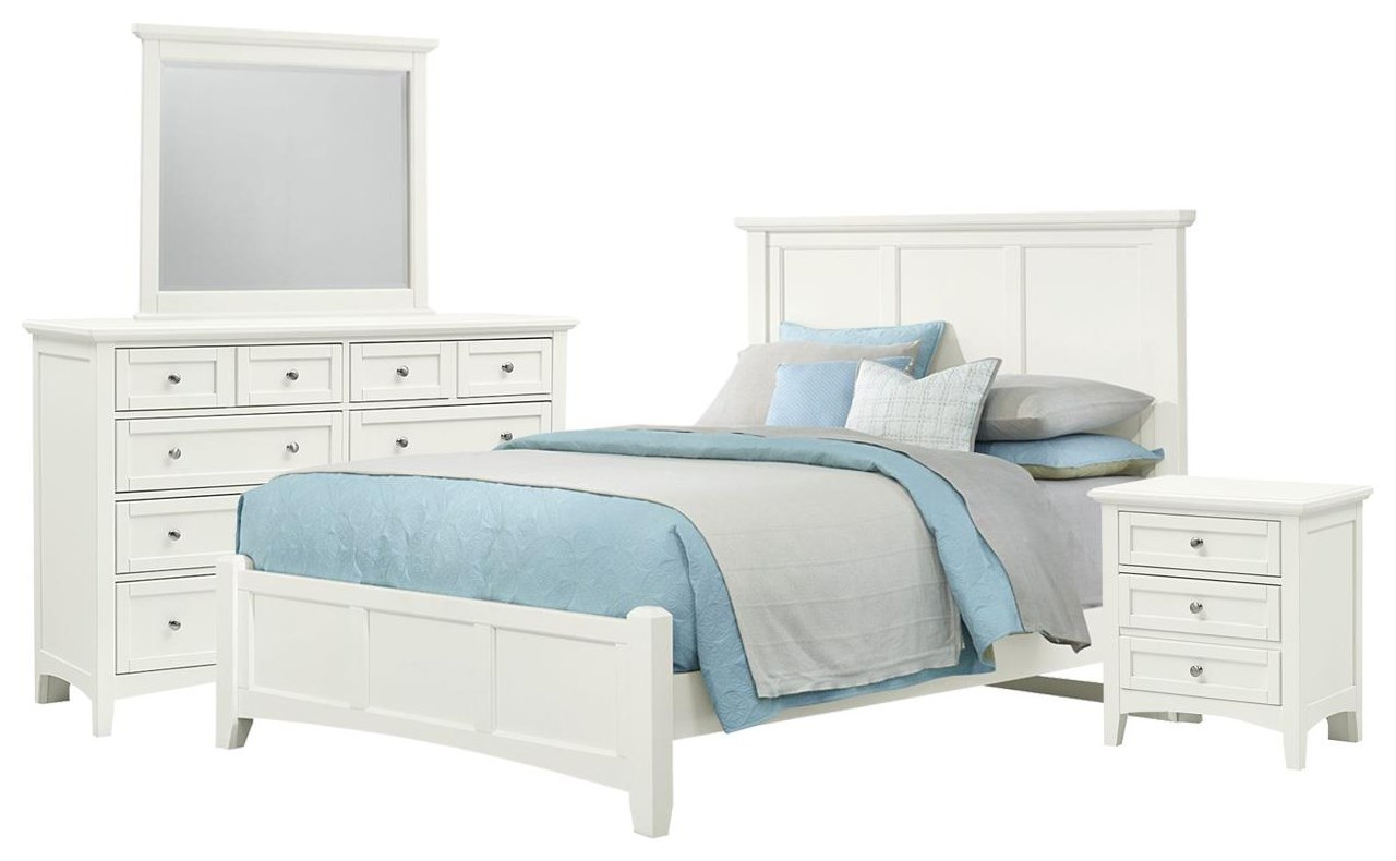Bonanza Queen Bed, Dresser, Mirror, and Nighstand by Vaughan Bassett at Johnny Janosik