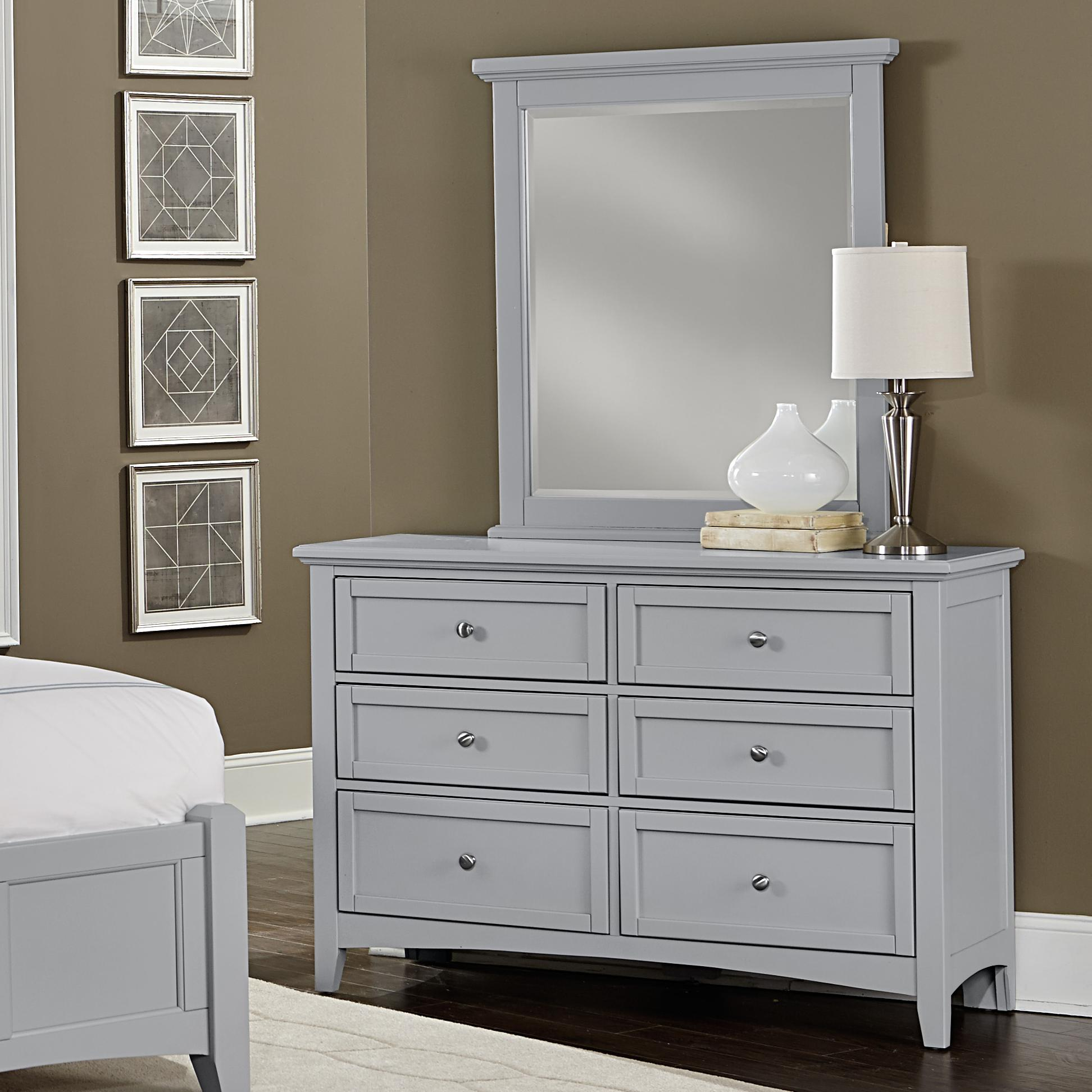 Vaughan Bassett Bonanza Double Dresser & Small Landscape Mirror - Item Number: BB26-001+442