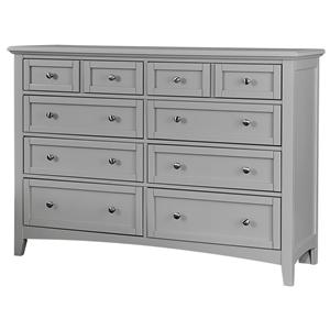 Vaughan Bassett Bonanza Triple Dresser - 8 Drawers