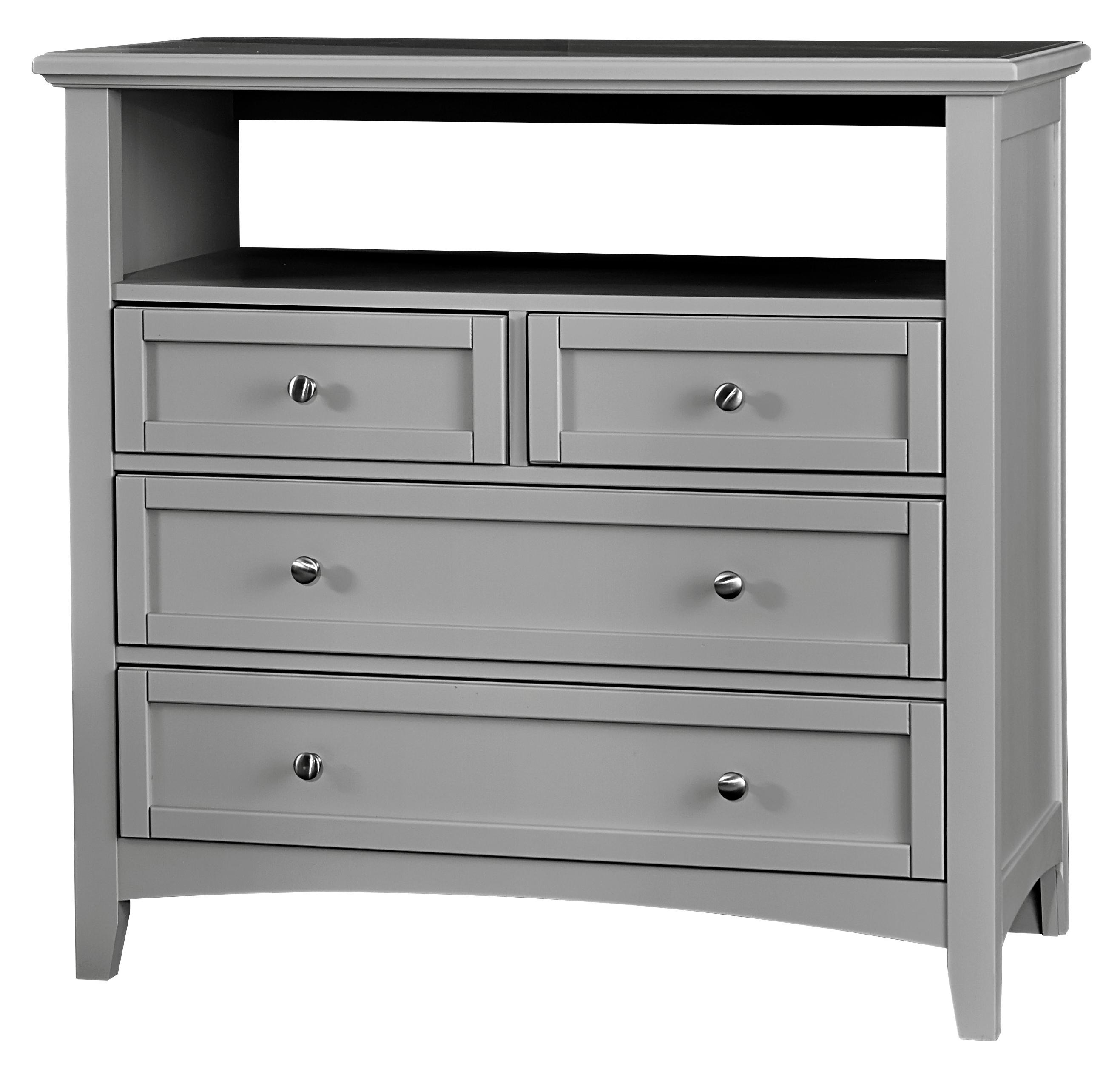 Vaughan Bassett Bonanza Media Unit - 4 Drawers - Item Number: BB26-114
