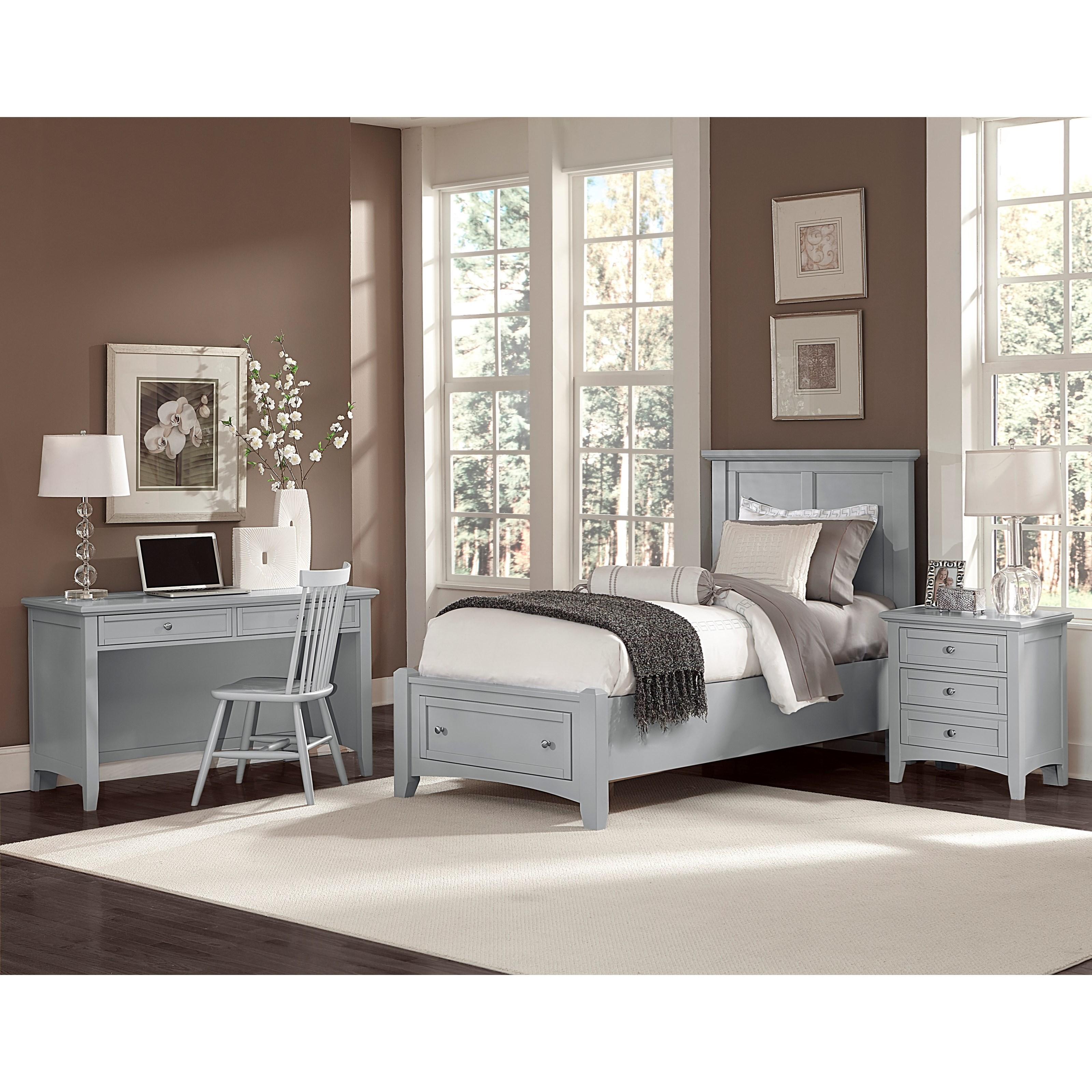 Bassett Home Furnishings: Vaughan Bassett Bonanza Twin Mansion Storage Bed With 1