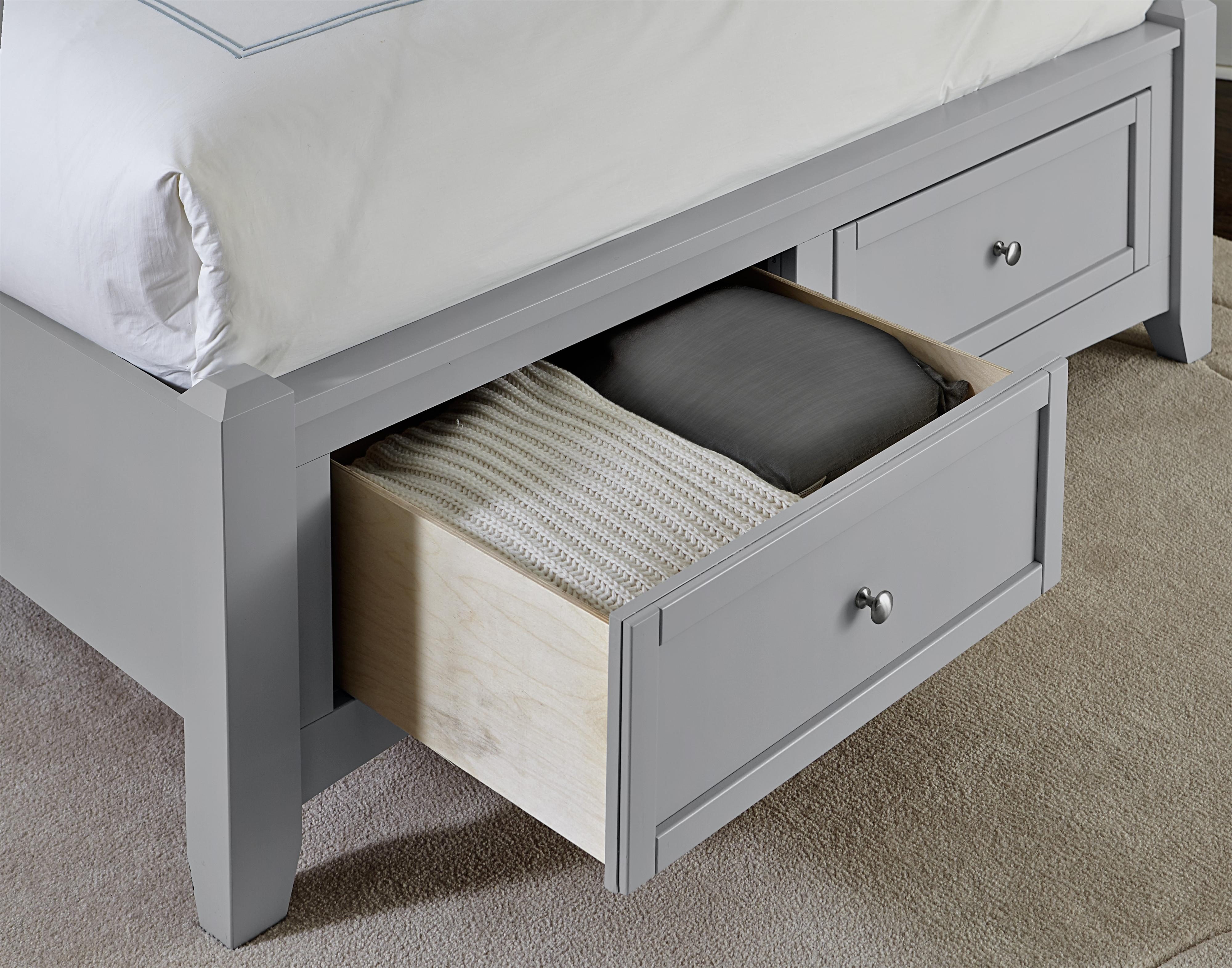 Vaughan Bassett Bonanza King Mansion Storage Bed With 2 Drawers Great American Home Store
