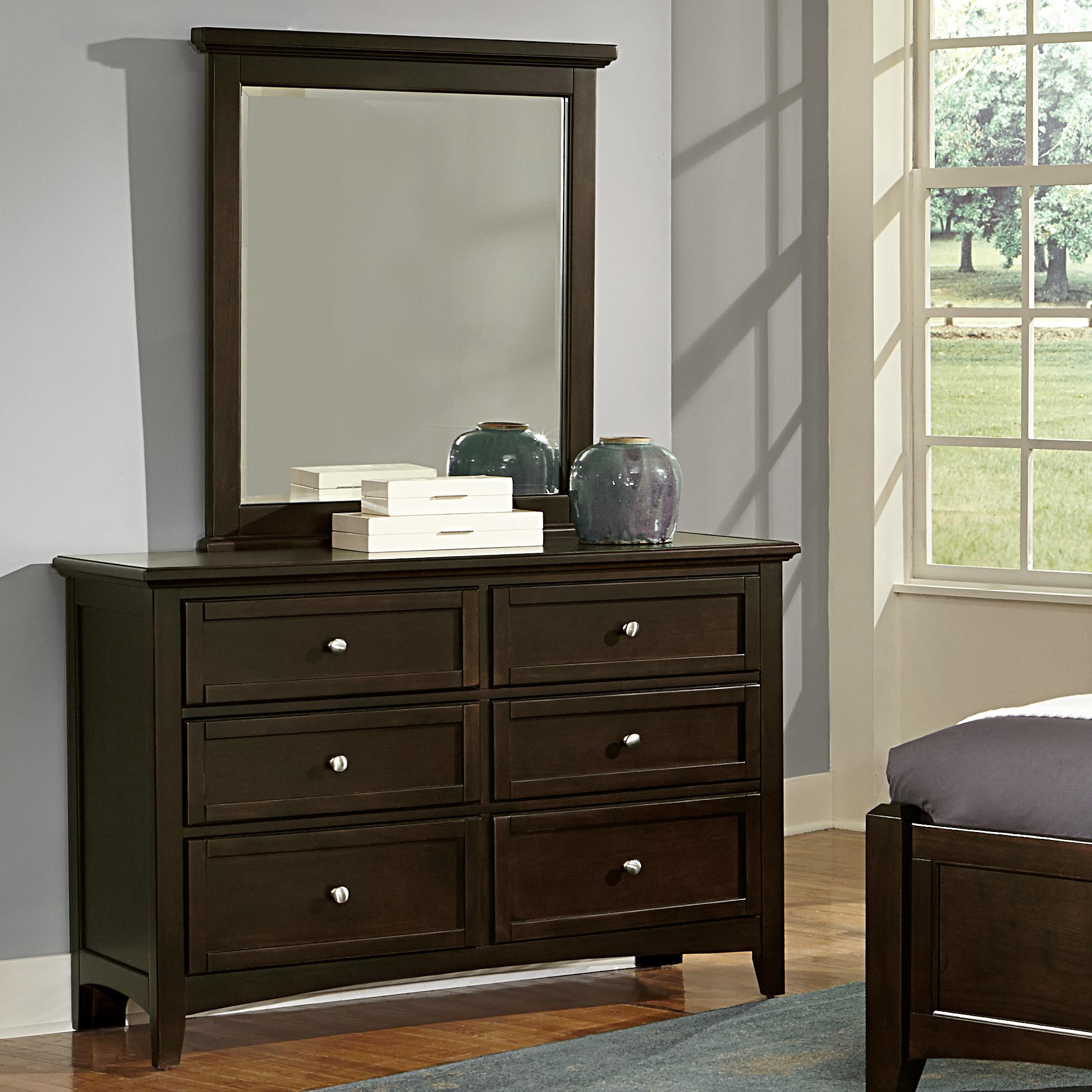 Vaughan Bassett Bonanza Double Dresser & Small Landscape Mirror - Item Number: BB27-001+442